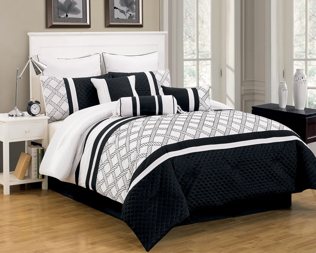 Image of: Black And White Bedding Ikea
