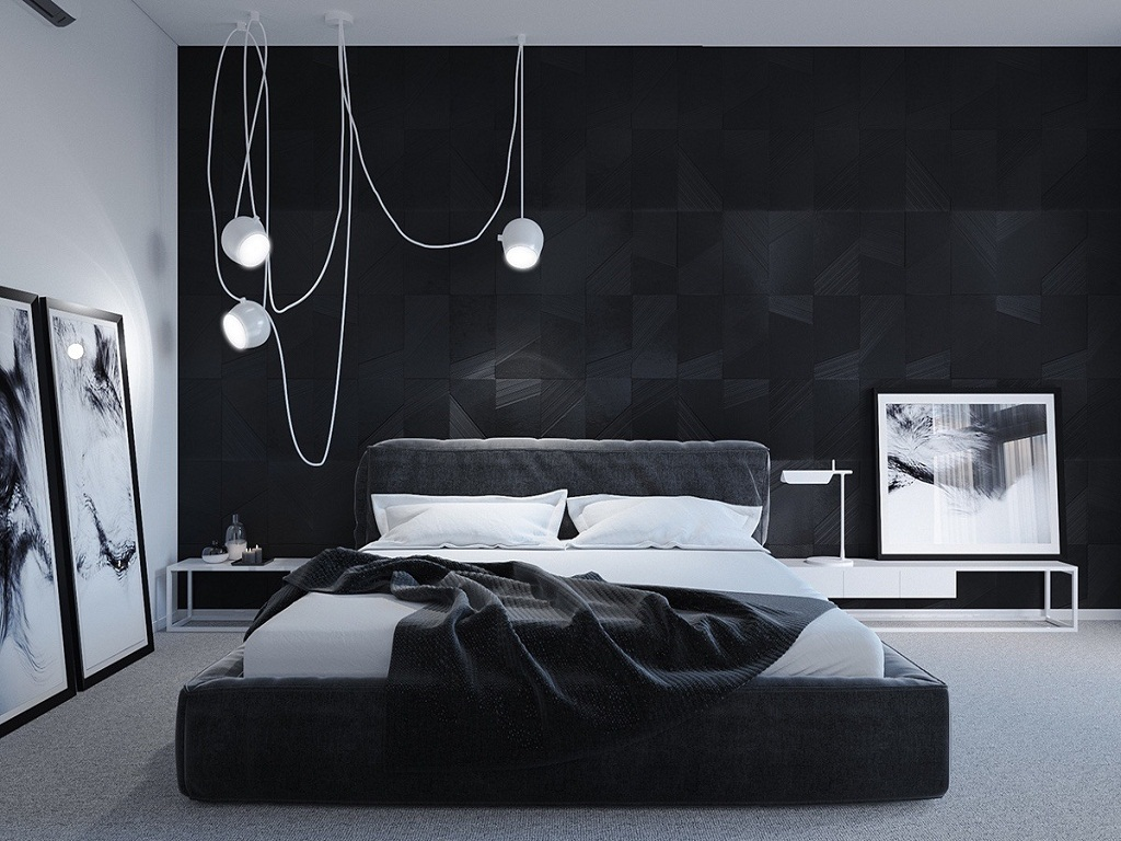 Image of: Black And White Bedroom Ideas DIY