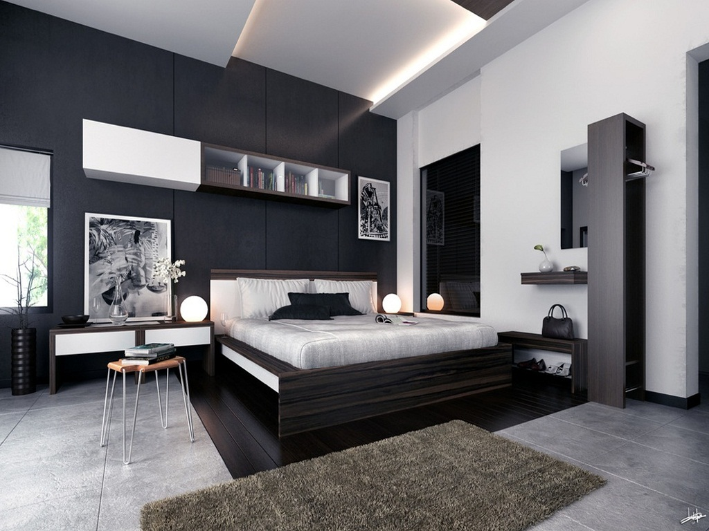 Image of: Black And White Bedroom Ideas For Adults