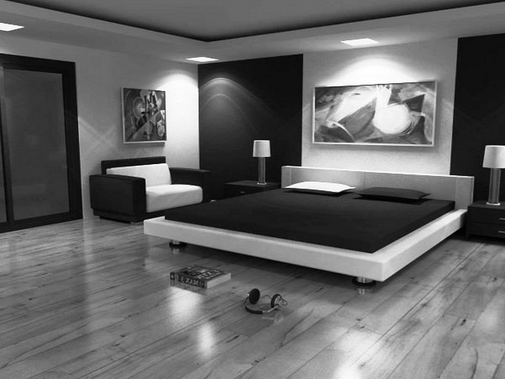 Image of: Black And White Bedroom Ideas Modern
