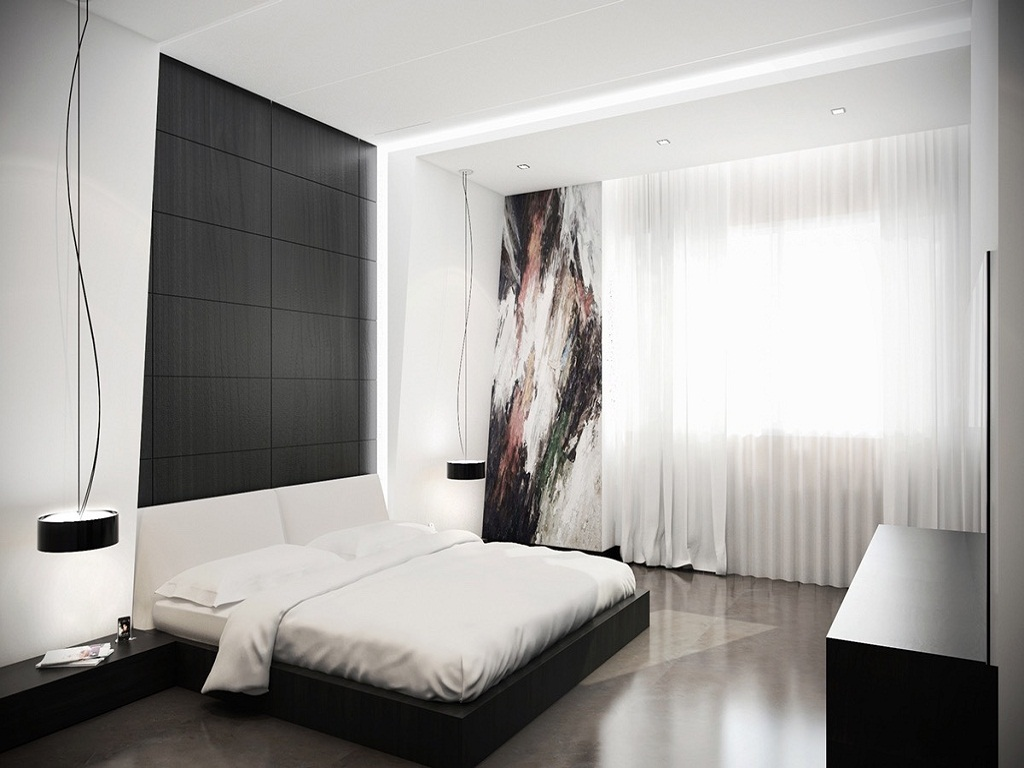 Image of: Black And White Bedroom Ideas On a Budget