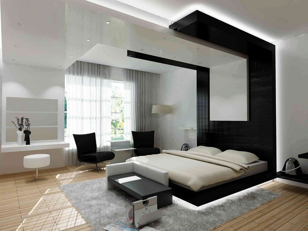 Image of: Black And White Bedroom Ideas With Color