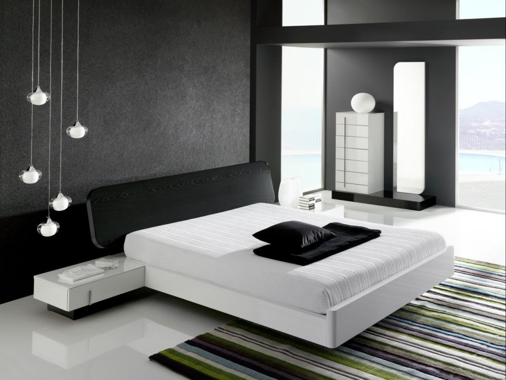 Image of: Black And White Bedroom Ideas With a Pop Of Color