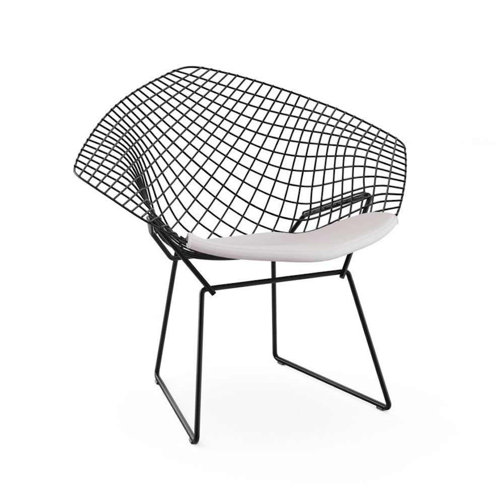 Image of: black bertoia diamond chair