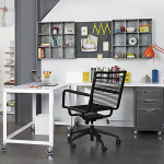 black bungee office chair