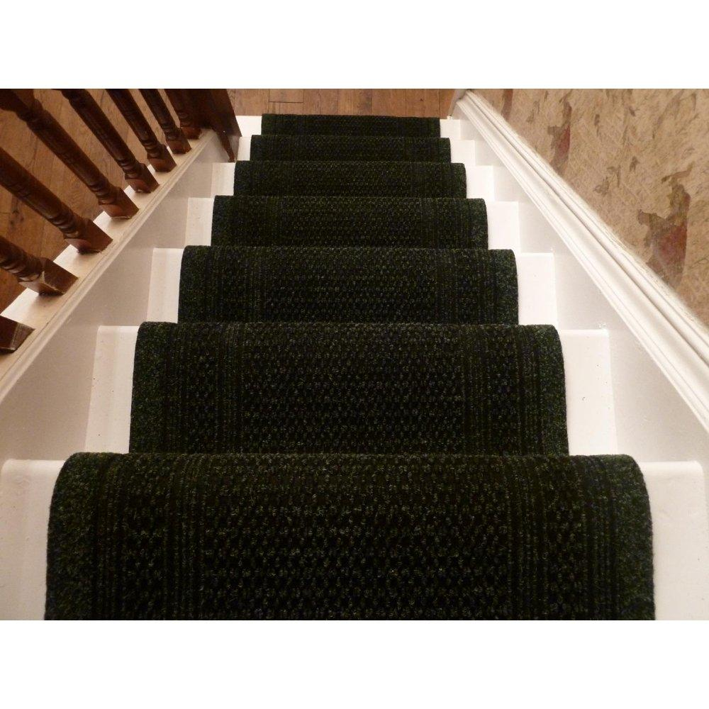 Image of: black carpet runners for stairs