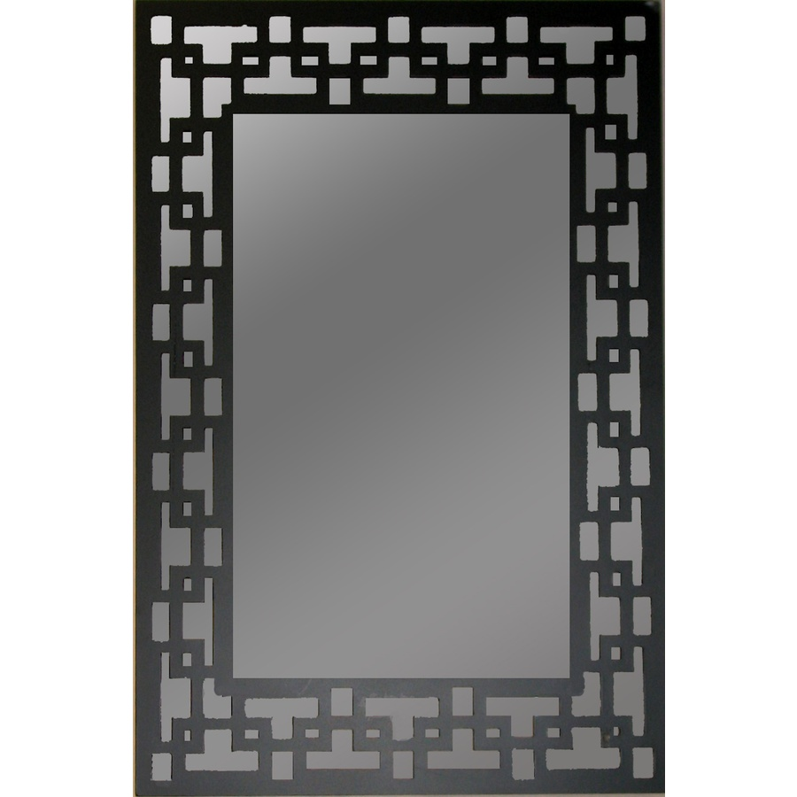 Image of: Black Framed Mirror Round