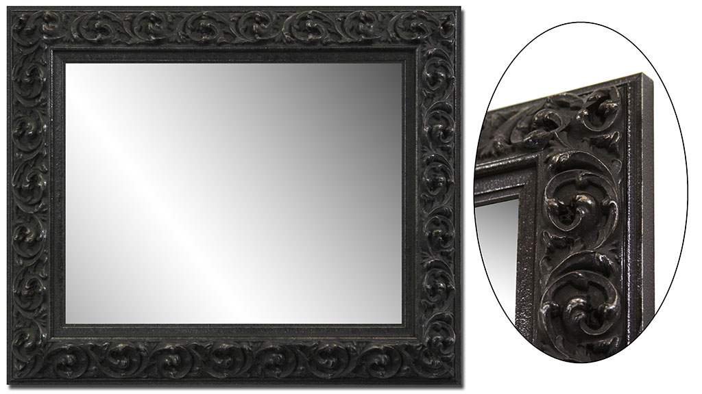 Image of: Black Framed Mirror Target