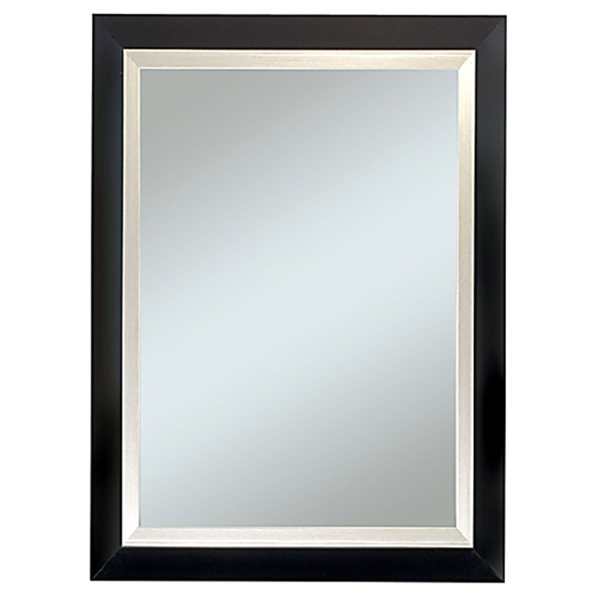 Image of: Black Framed Mirror with Shelf