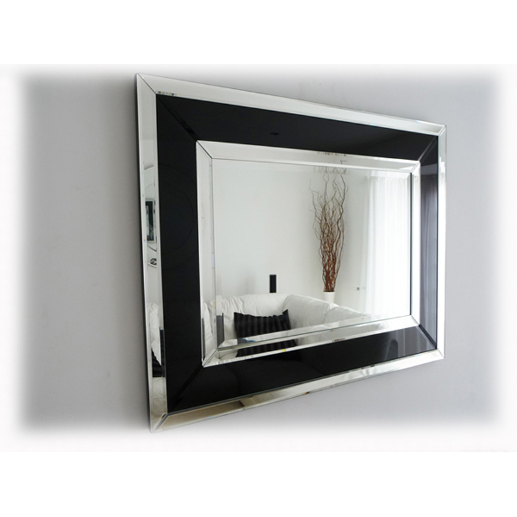 Image of: Black Framed Mirrored Wardrobe Doors