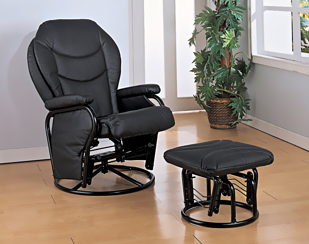 Image of: black glider rocking chair