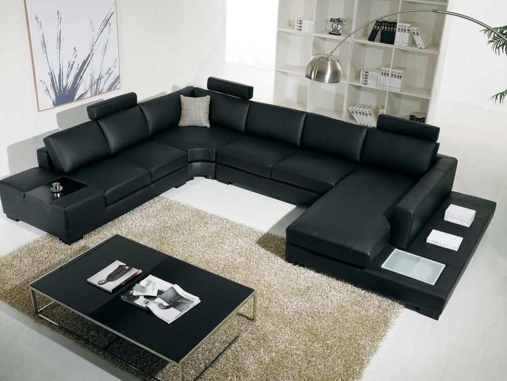 Image of: Black Leather Loveseat Recliner