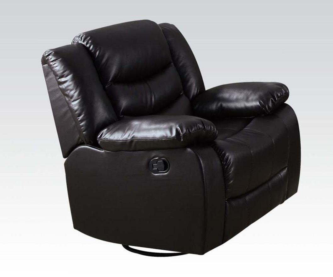 Image of: Black Leather Rocker Recliner