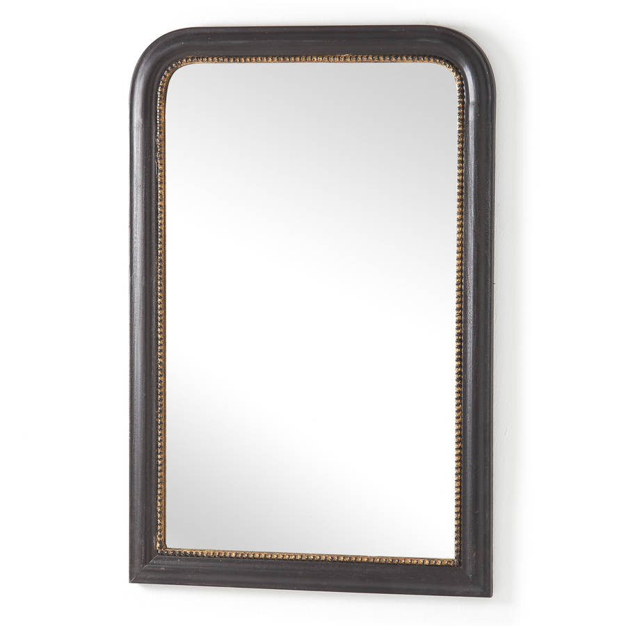 Black Metal Frame Bathroom Mirror