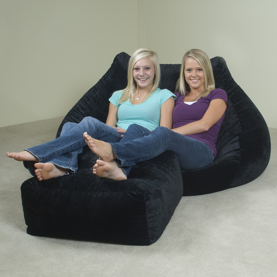 Image of: black oversized bean bag chairs