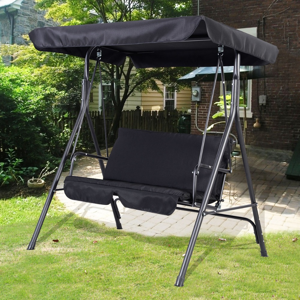 Image of: black patio swing chair
