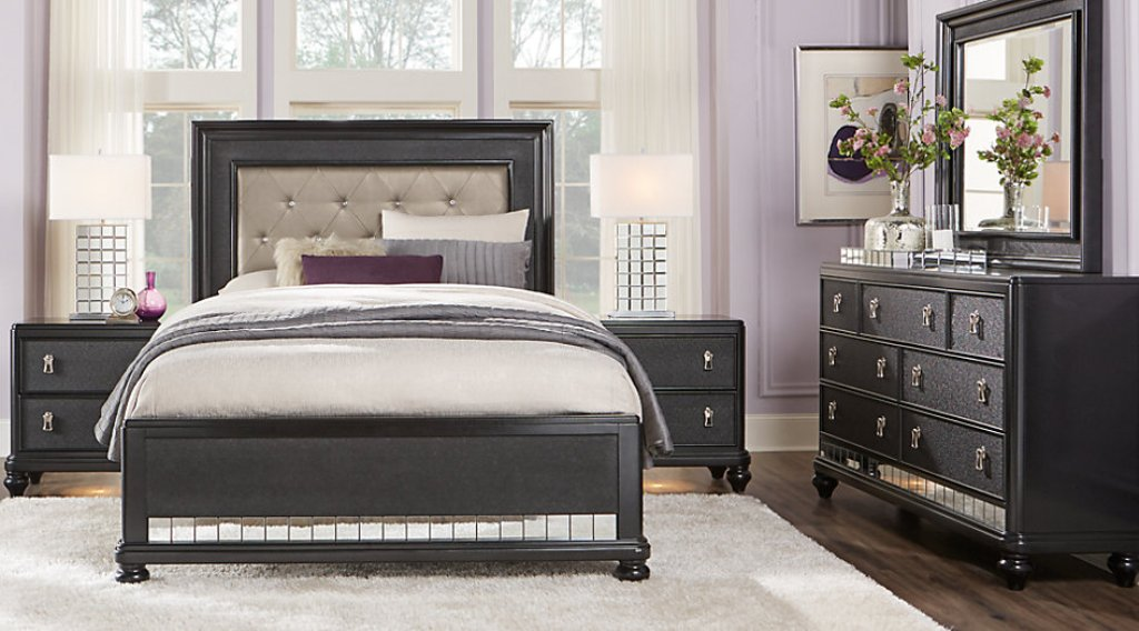 Image of: Black Sofia Vergara Bedroom Sets