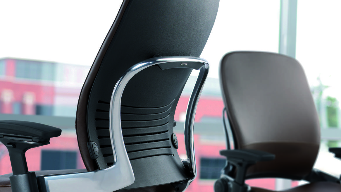 Image of: black steelcase leap chair