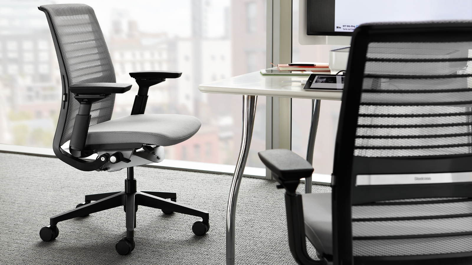 Image of: black steelcase think chair
