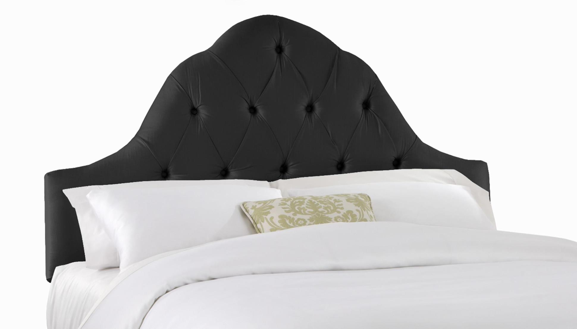 Image of: Black Tufted Headboards