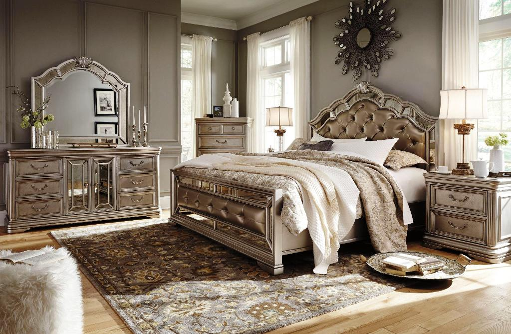 Image of: Black Upholstered Bedroom Sets