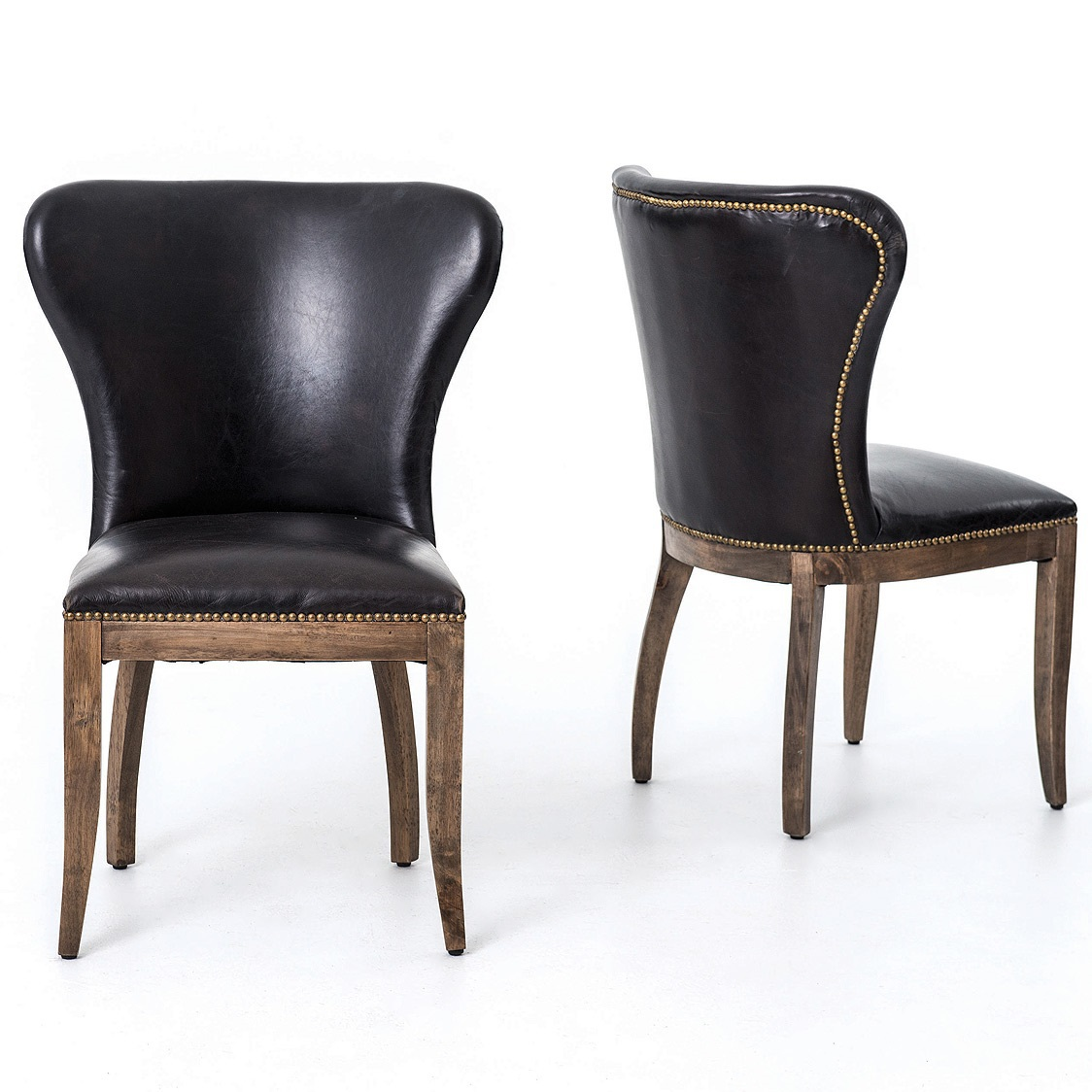 Black Wingback Dining Chair