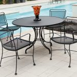 black wrought iron chairs