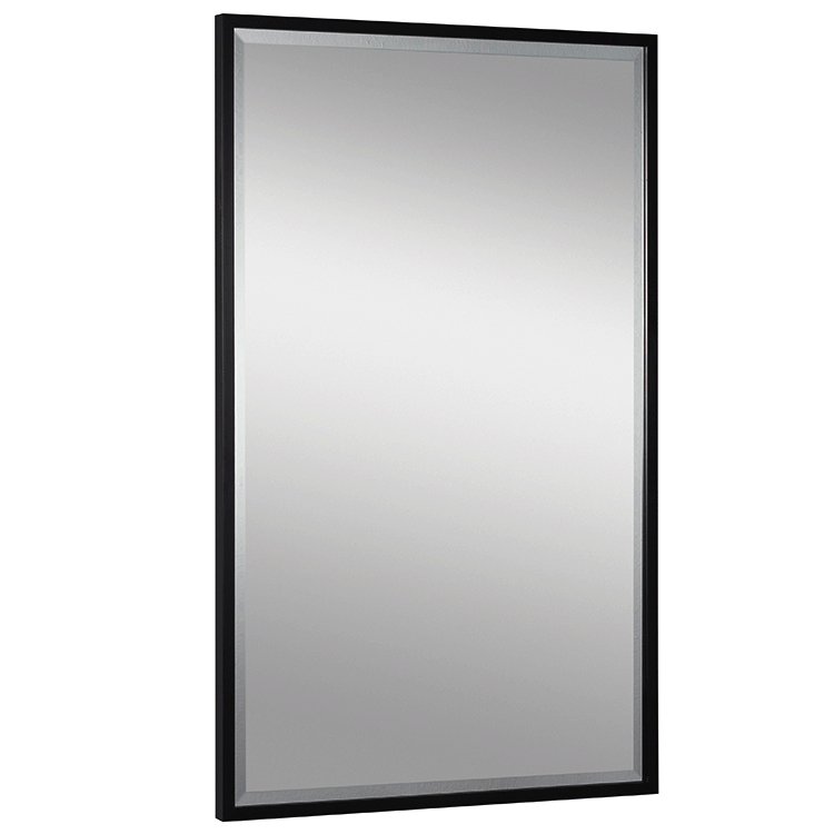 Image of: Black and Silver Framed Mirror