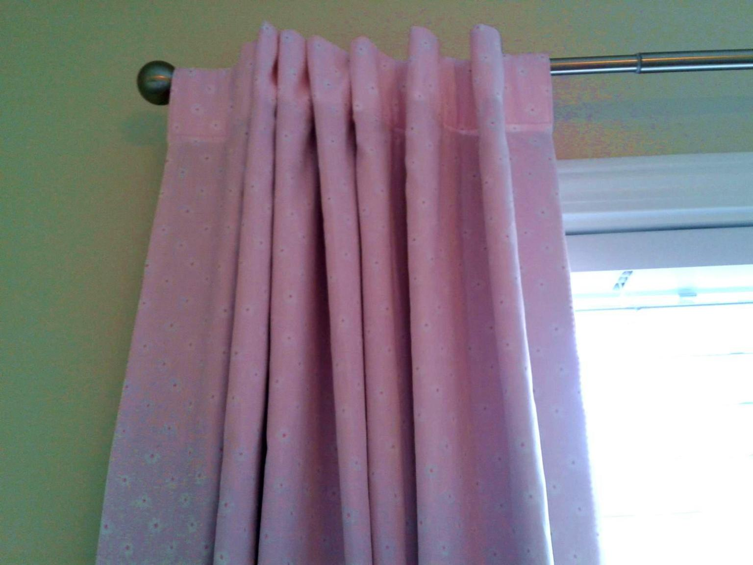 Image of: Blackout Pink Curtains