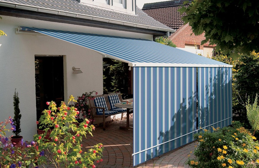 Image of: Blue Awning Covers