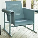 blue outdoor glider chair