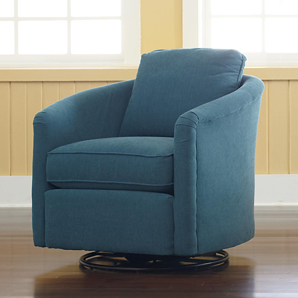 Image of: blue swivel glider chair