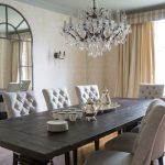 blue tufted dining chairs