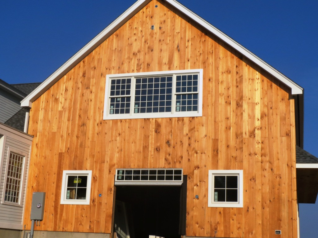 Image of: board and batten siding barn