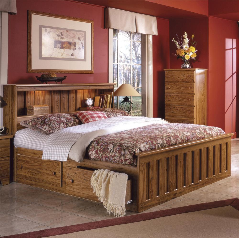 Image of: Bookcase Headboard Queen Solid Wood
