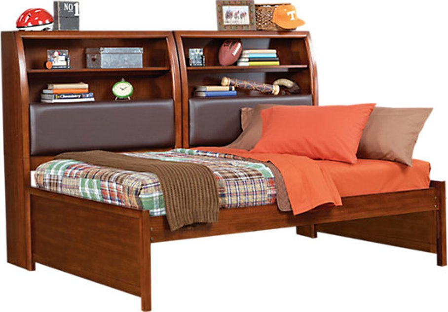 Image of: Bookcase daybed with drawers and trundle