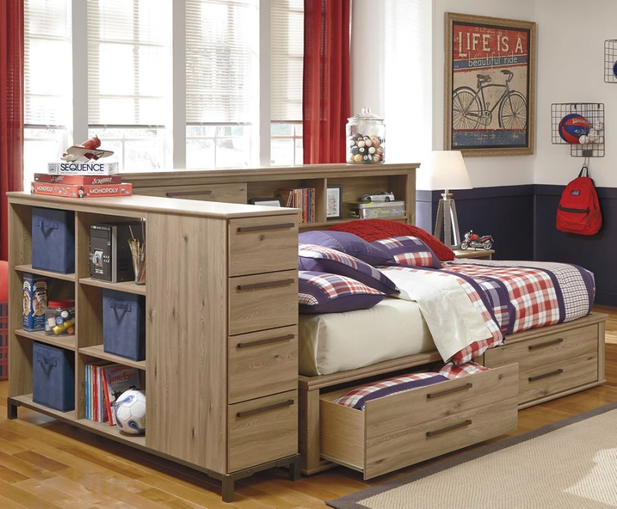 Image of: Bookcase daybed with storage and trundle