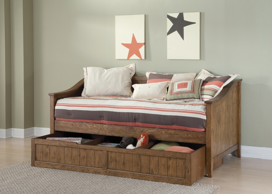 Image of: Bookcase daybed with storage