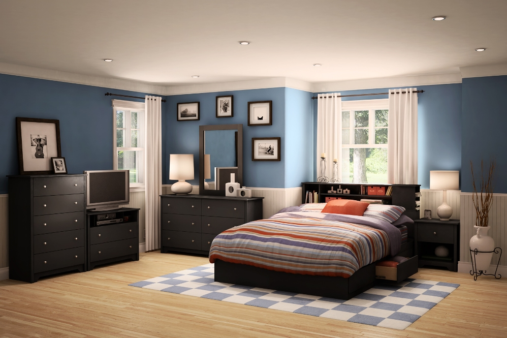 Image of: Bookcase headboard and footboard