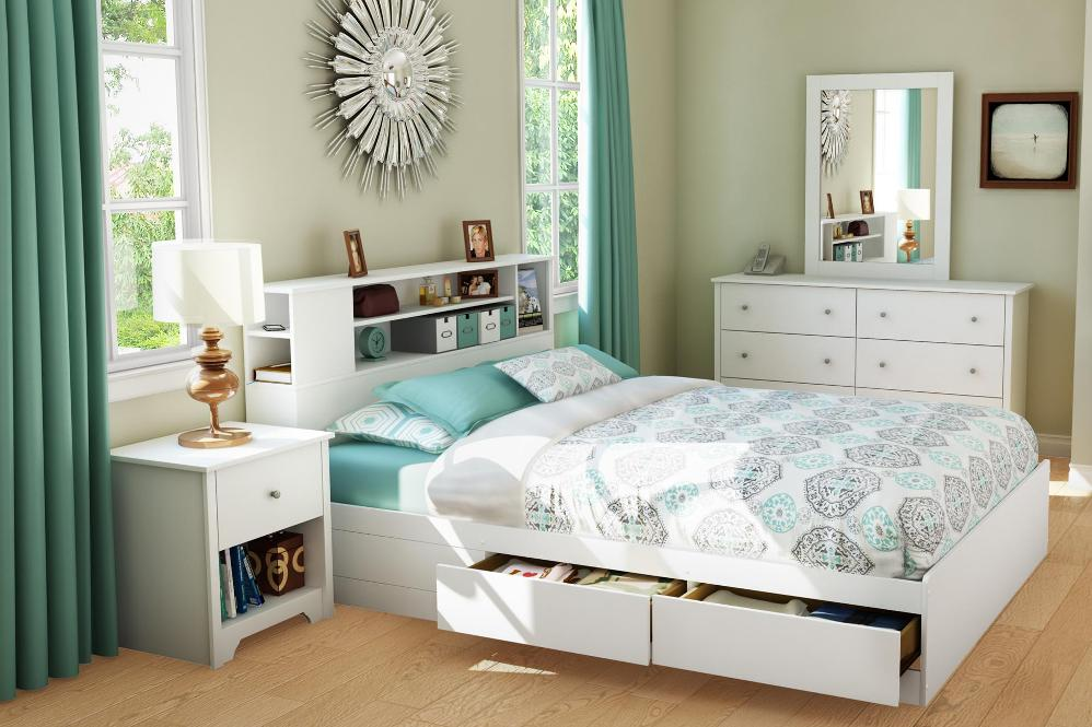 Image of: Bookcase headboard beds