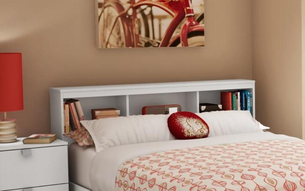 Image of: Bookcase headboard full cherry