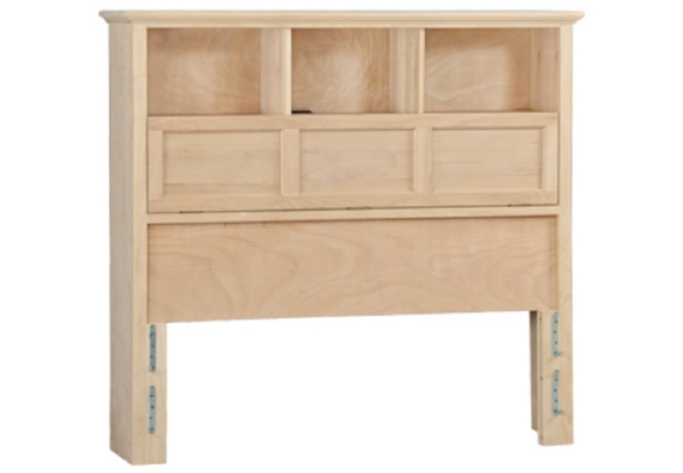 Image of: Bookcase headboard full maple