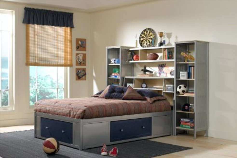 Image of: Bookcase headboard full solid wood