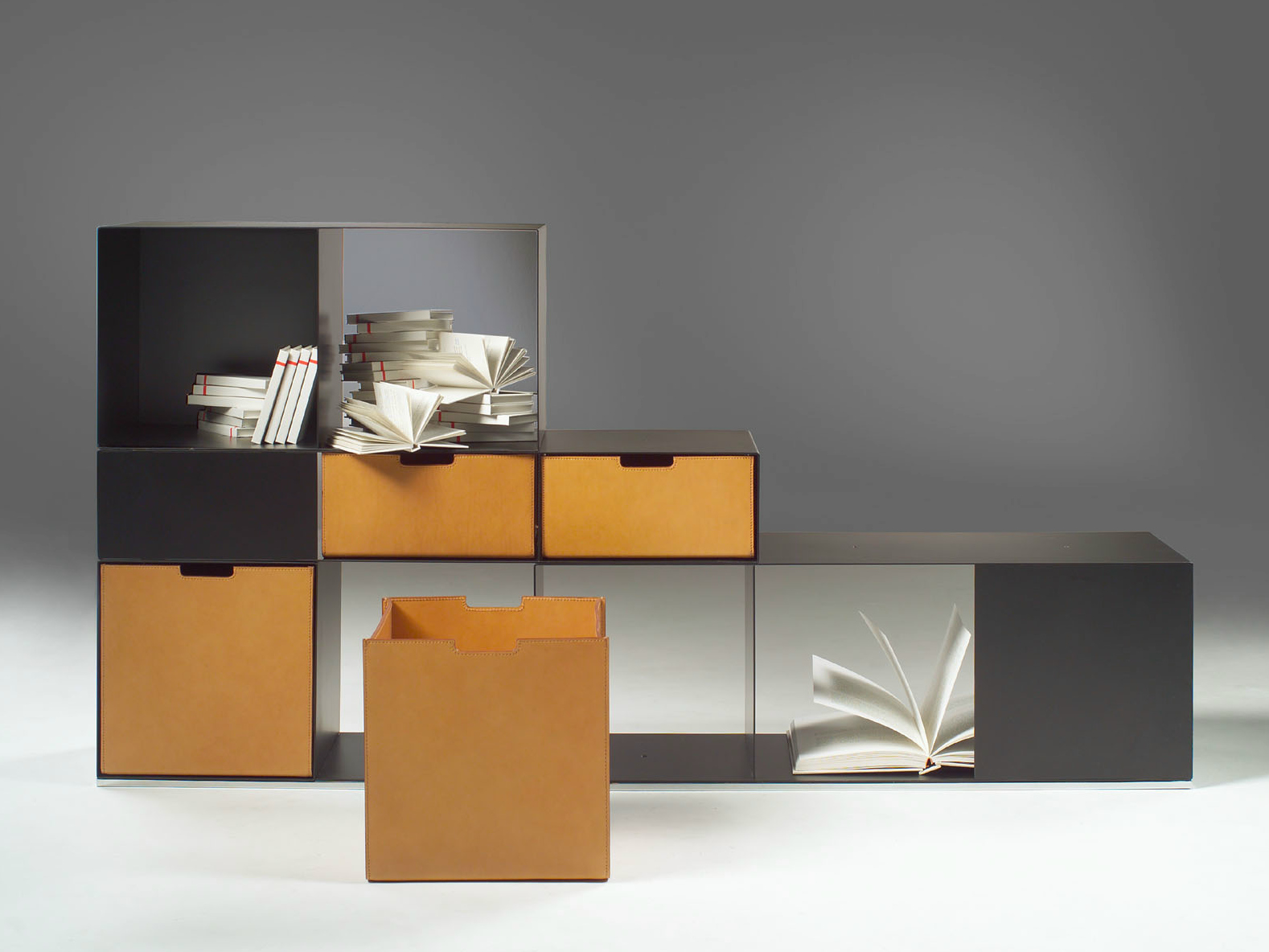 Image of: Bookcase with Drawers Designs