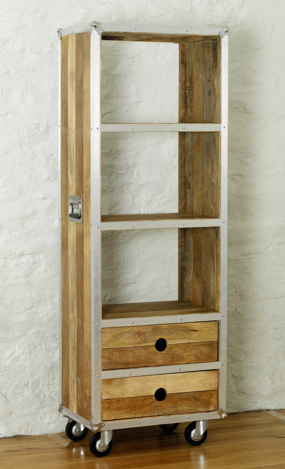 Image of: Bookcase with Drawers on Wheel
