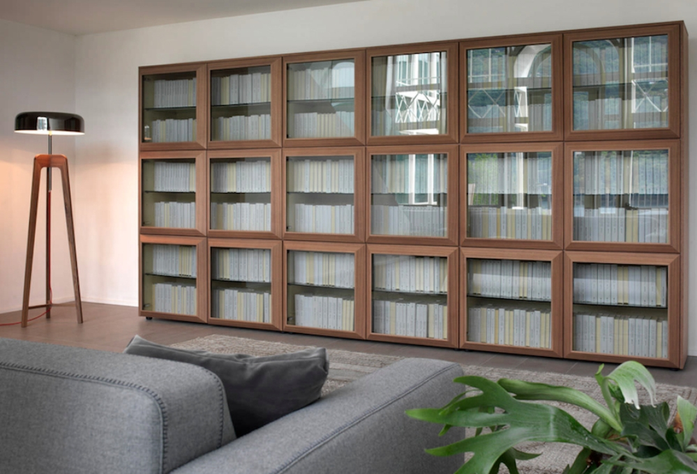 Image of: Bookcase with glass doors and lock