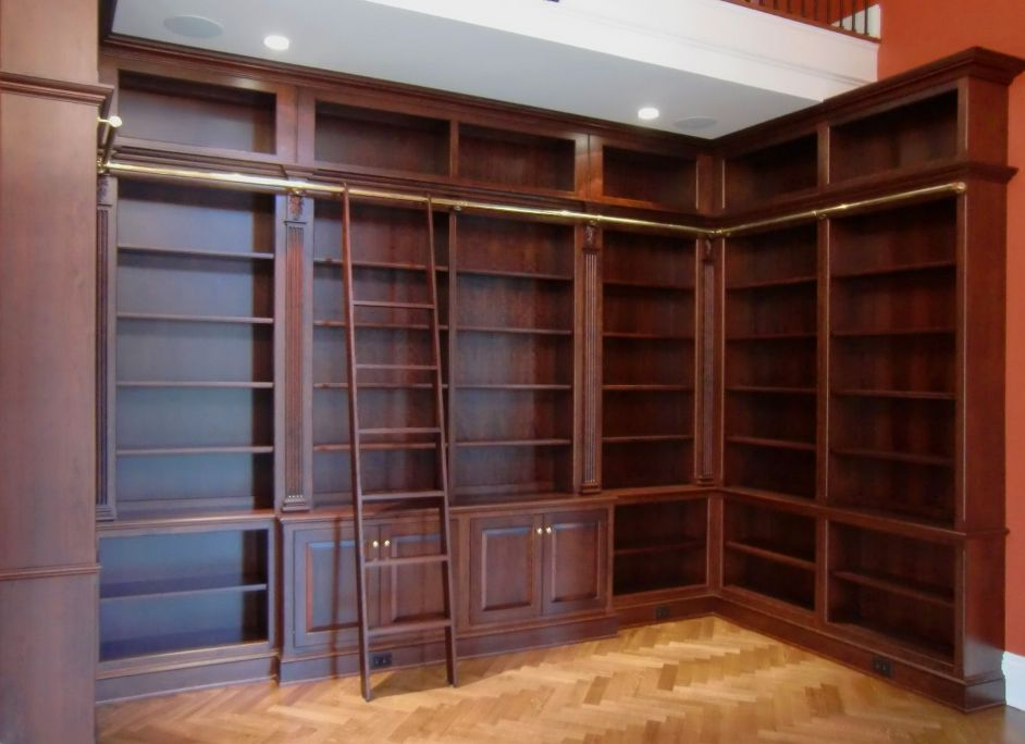 Image of: Bookcase with ladder plans