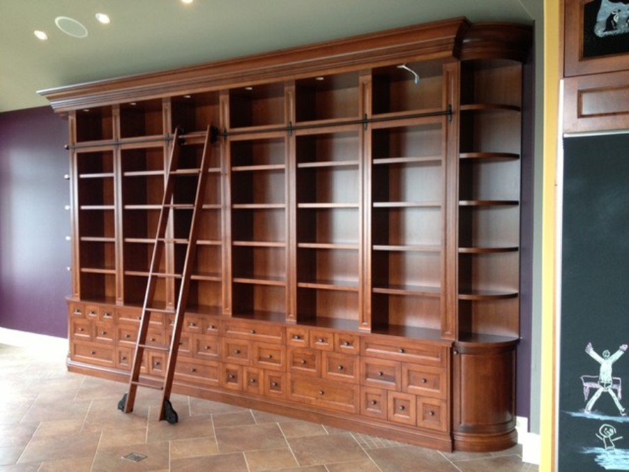Image of: Bookcase with Ladder Rail Picture