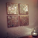 Bronze and Mirror Wall Art