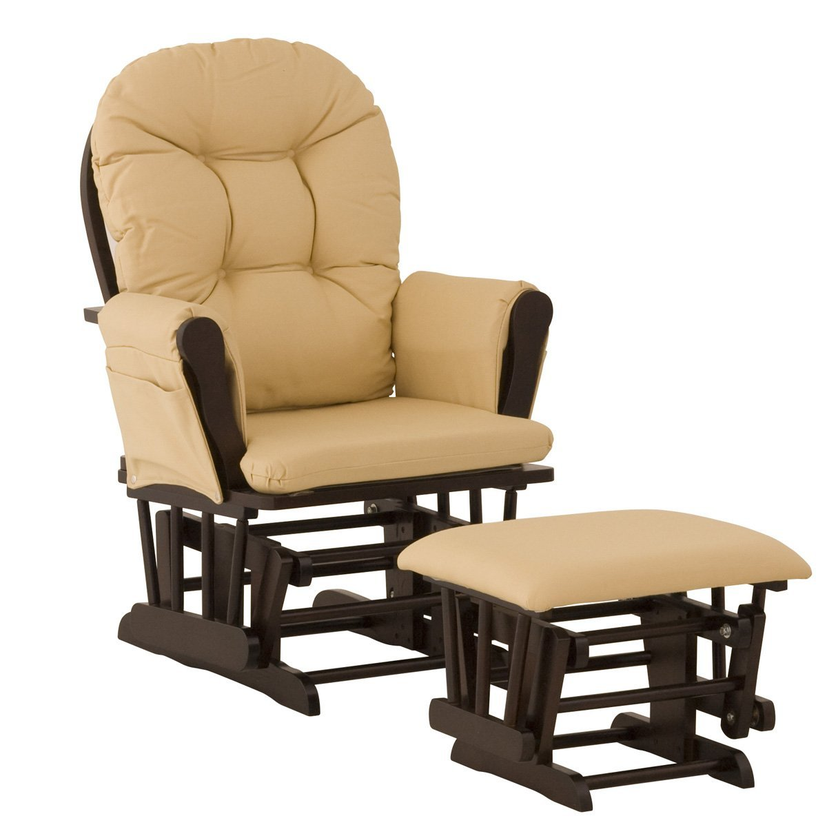 Image of: Brown Glider Rocking Chairs